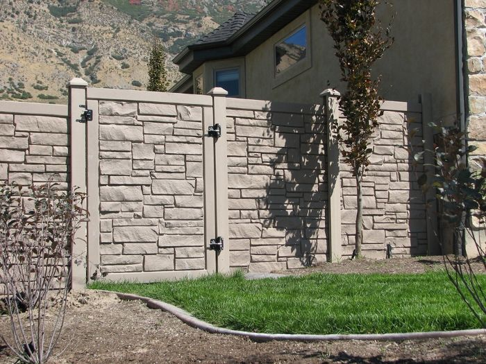 Simulated Stone Fence Simtek Fence Direct EcoStone