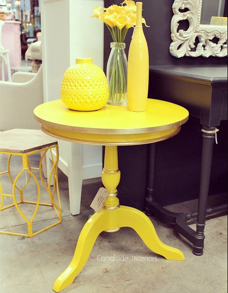 Candy Crushed Side Table Yellow In Stock Furniture Restoration Furniture French Provincial Furniture