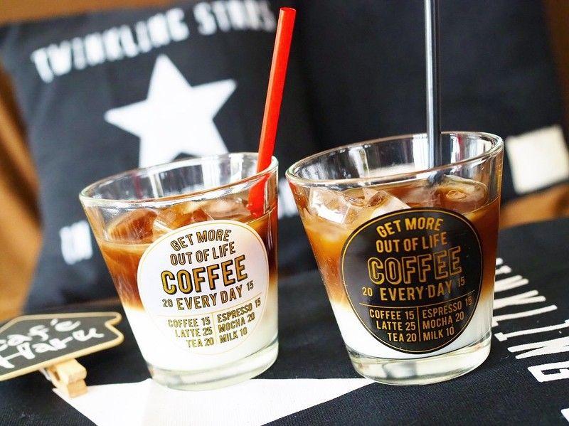 コーヒーショップ風 セリア新商品 スラントタンブラー コーヒーショップ カフェ セリア 新商品