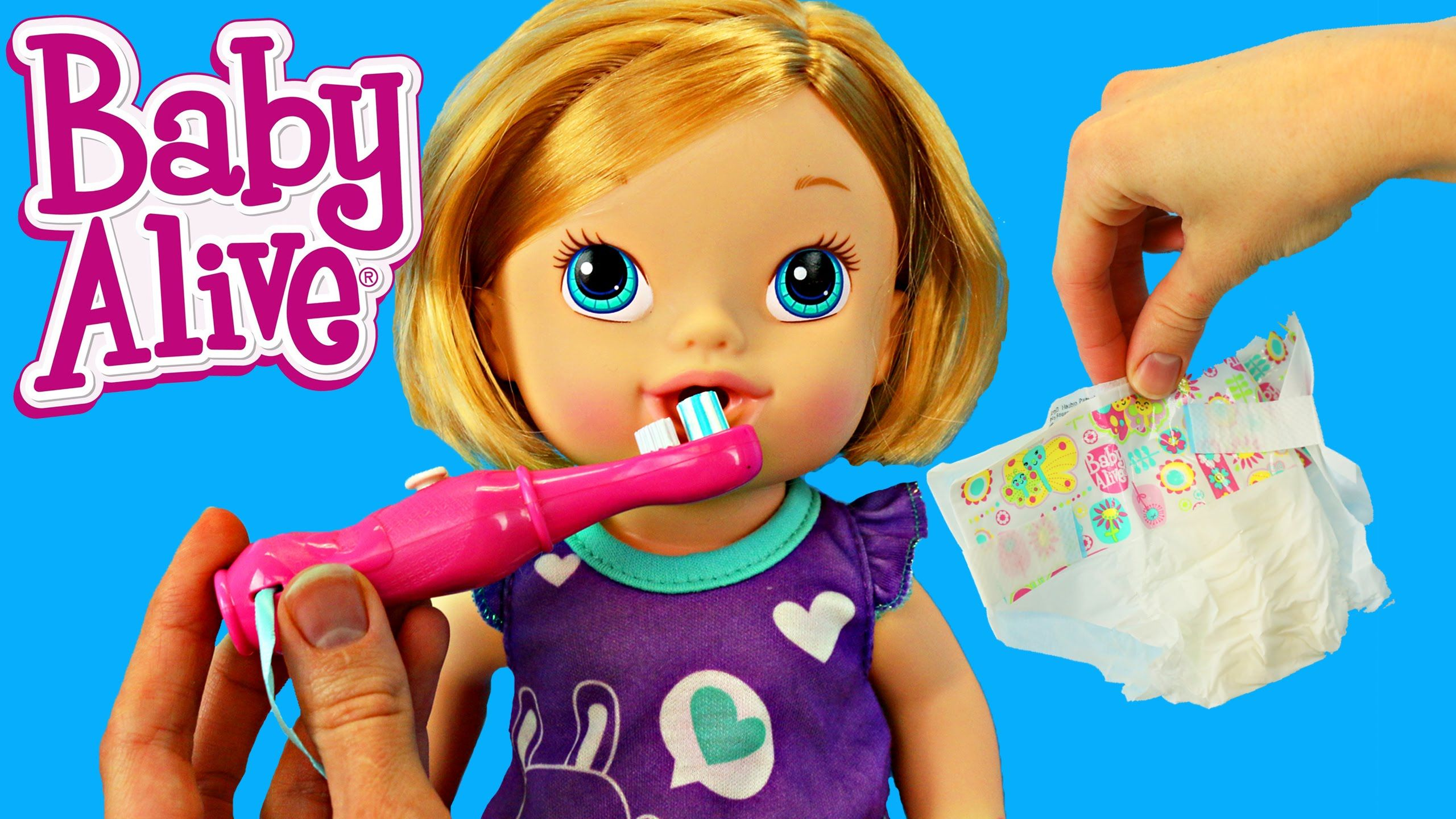 Baby Alive Toys : Baby alive brushy doll with pee diaper