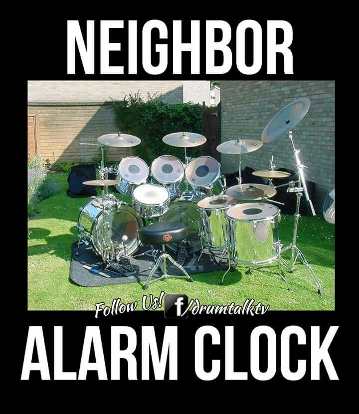 drummer alarm clock only for the neighbors dr drum drums how to play drums e alarm clock. Black Bedroom Furniture Sets. Home Design Ideas
