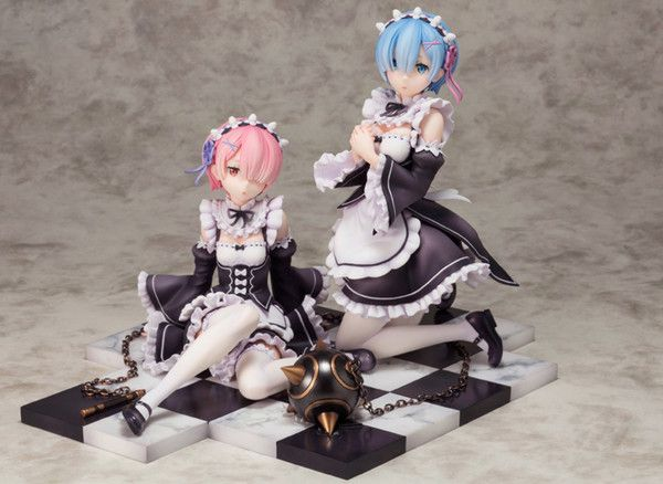 Zero Starting Life in Another World Rem Ram 1//8 PVC Figurine Statue Revolve Re