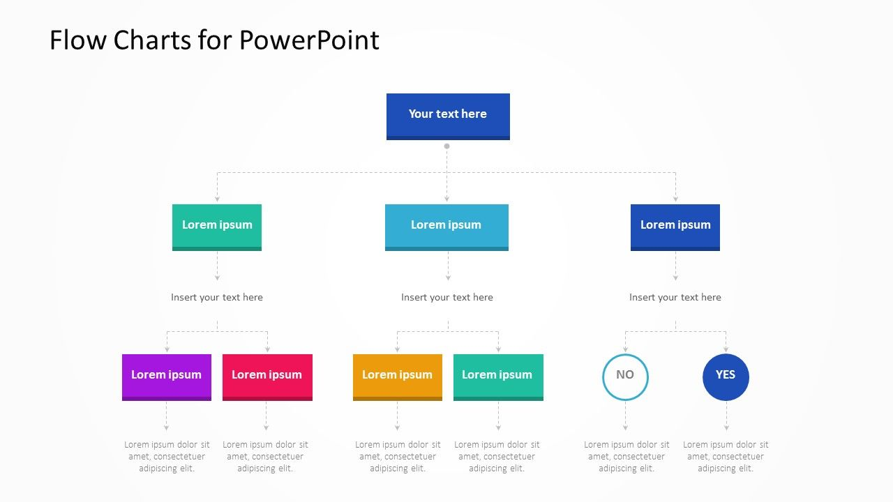 Flow Charts For Powerpoint Related Powerpoint Templates Light