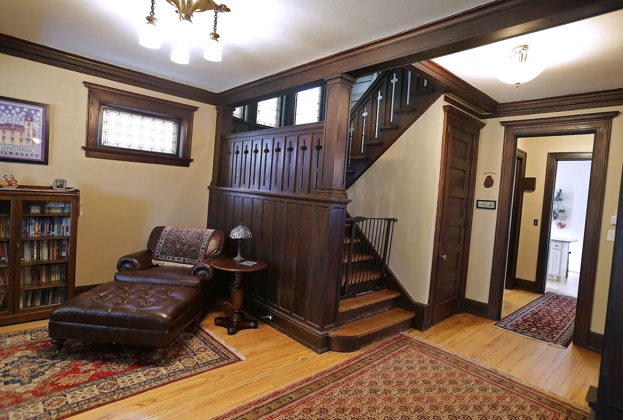 Inside A Refinished Early 1900s Arts And Crafts Style Home sincere
