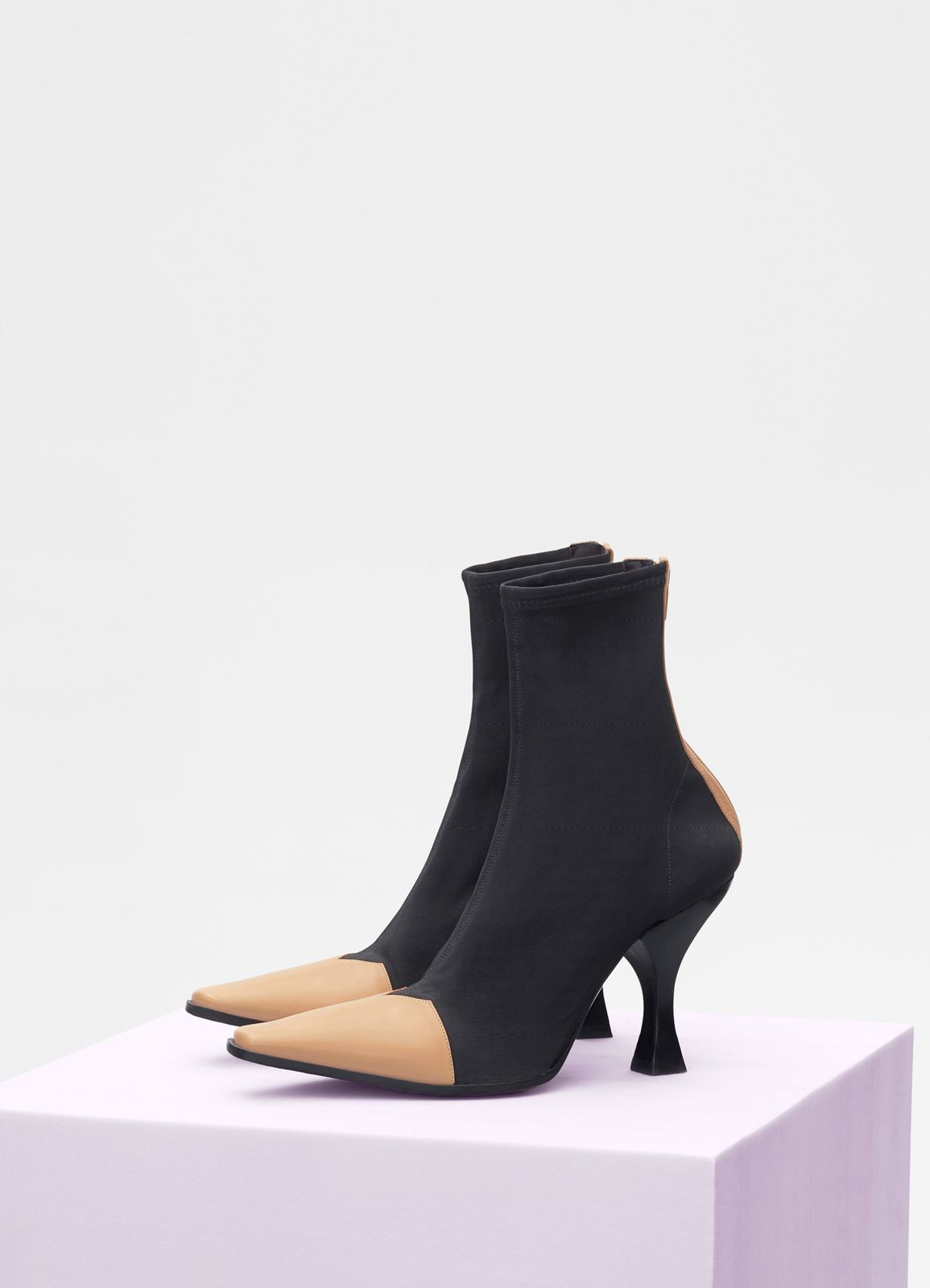 f27e6a045b4 Madame ankle boot in calfskin and gros grain stretch | SHOES in 2019 ...