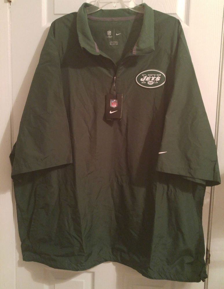 size 40 0bd7a 7e4d6 NIKE New York JETS On Field NFL Football Pullover Jacket ...