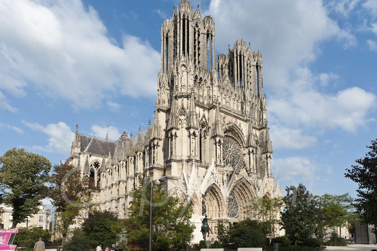 La Cathedrale De Reims Cathedrale Reims Photographie