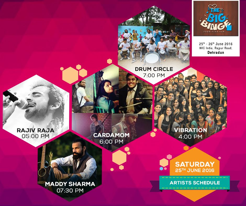 flea food and lots of music and dance awaits you tomorrow at the big binge dehradun where else would you get live music this vibrant weekend fun