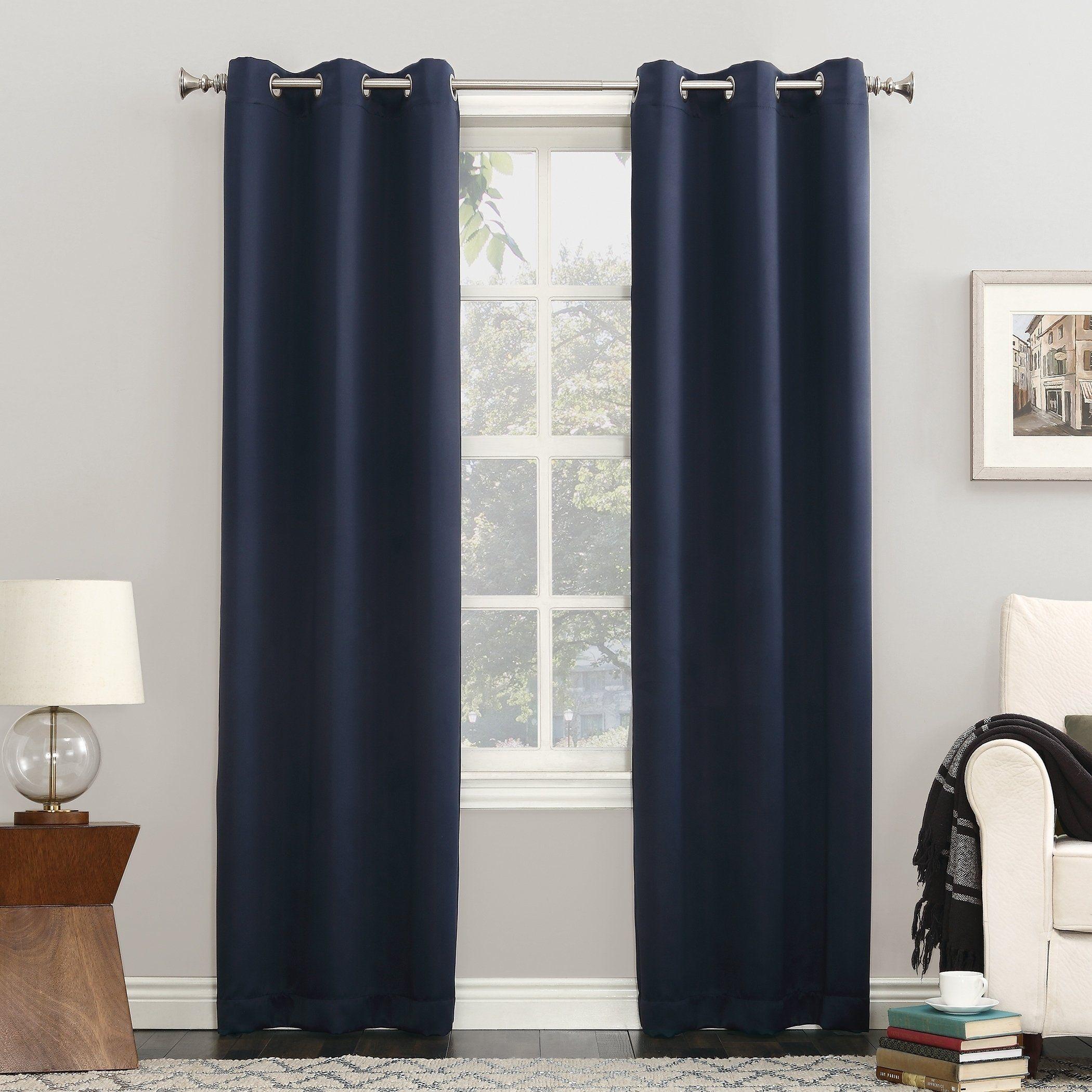 Sun Zero Blackout Single Curtain Panel 40 W X 84 L Terracotta