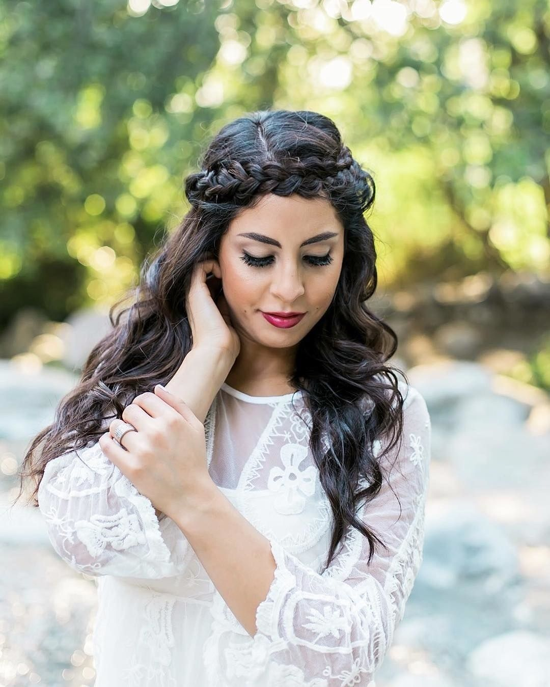 Half-Up, Half-Down Wedding Hairstyles For Every Type of Bride | Brides | Wedding hair down ...