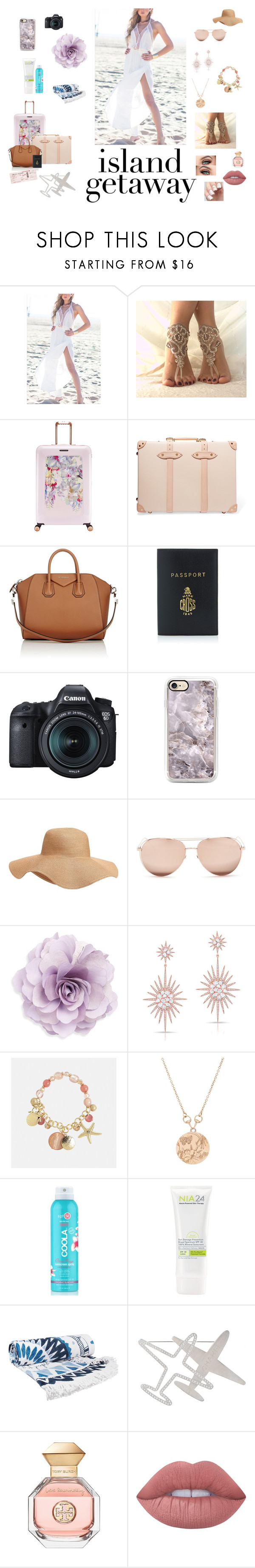 """""""xdfcbkhjnml"""" by manaur06 ❤ liked on Polyvore featuring Fauve, Ted Baker, Globe-Trotter, Givenchy, Mark Cross, Eos, Old Navy, Linda Farrow, Cara and Anne Sisteron"""