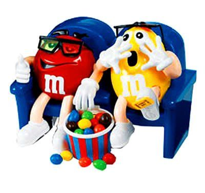 "M&M's Collectible Candy Dispenser Limited Edition ""At The Movies 3D"" Theme 9"" x 6"""
