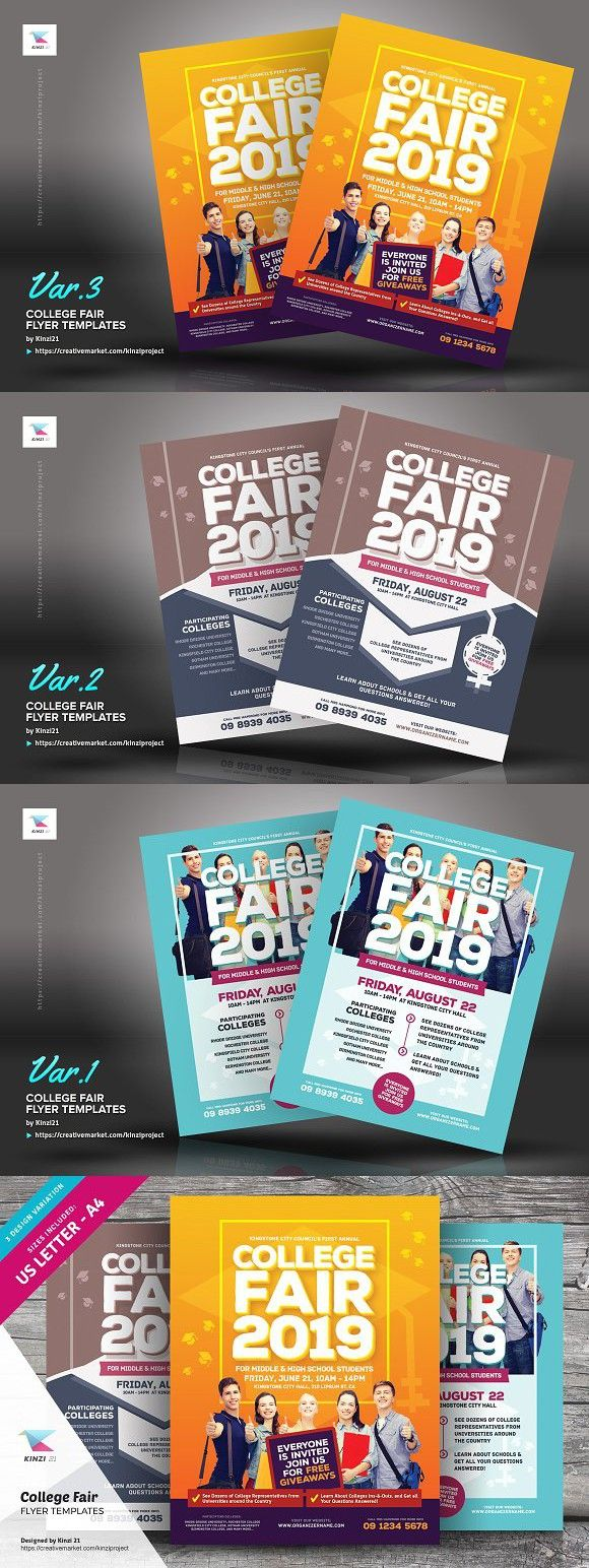 college fair flyer templates student pinterest flyer template