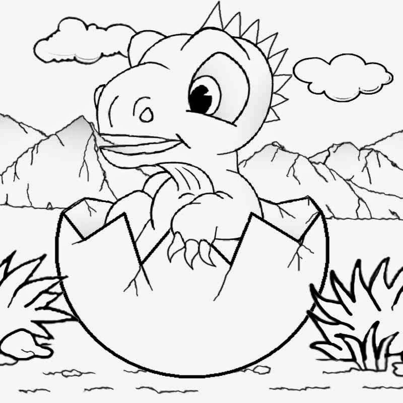 cartoon baby dinosaur coloring pages - Cute Baby Dinosaur Coloring Pages