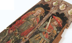 The panels stolen from Holy Trinity church in Torbryan.