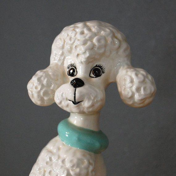 Vintage Poodle Statue Ceramic Dog Figurine Mid Century Etsy Vintage Poodle Dog Figurines Poodle