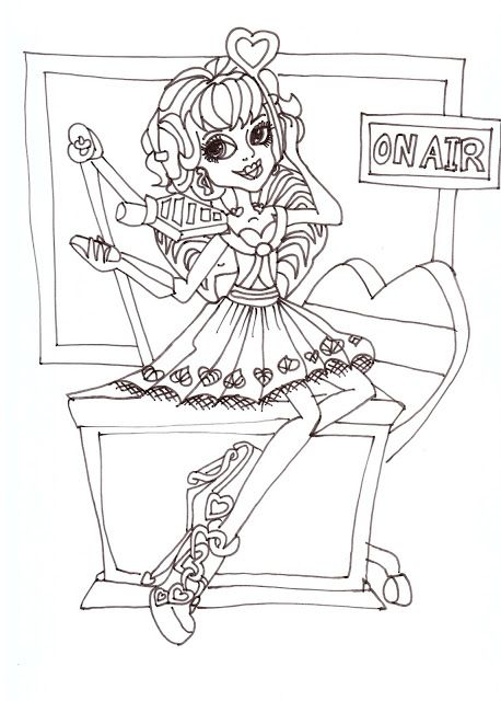Free Printable Monster High Coloring Pages: C.A. Cupid | Mommy\'s ...