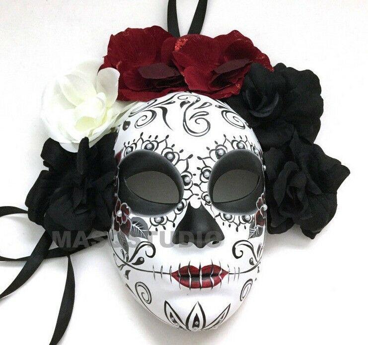 Halloween Dia DeLos Muertos Day Of The Dead Skull Masquerade Costume Masks