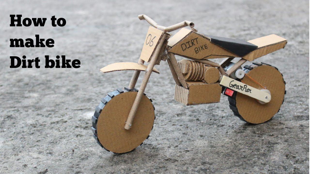 How To Make Cardboard Dirt Bike At Very Simple Bike Craft