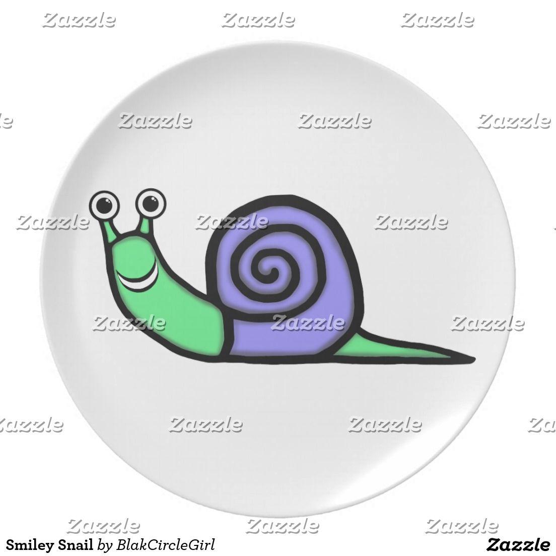 Smiley Snail Dinner Plate