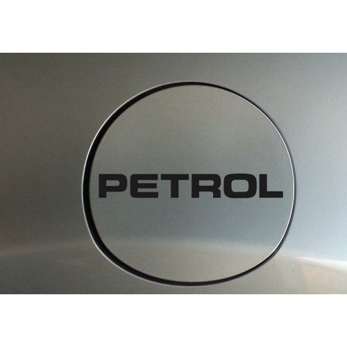 Petrol fuel cap sticker decal with classy font and simple style custom colors available