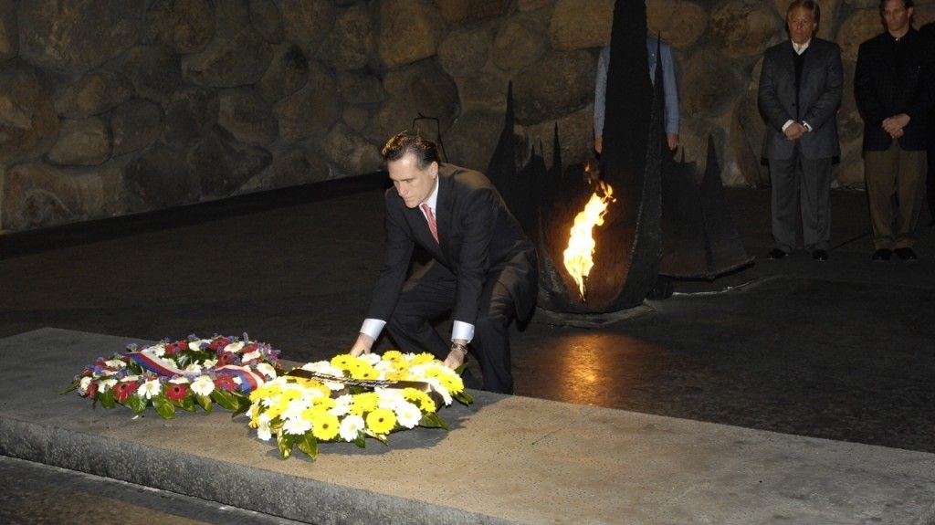 Romney visited Yad Vashem in 2007, and Sderot in 2011