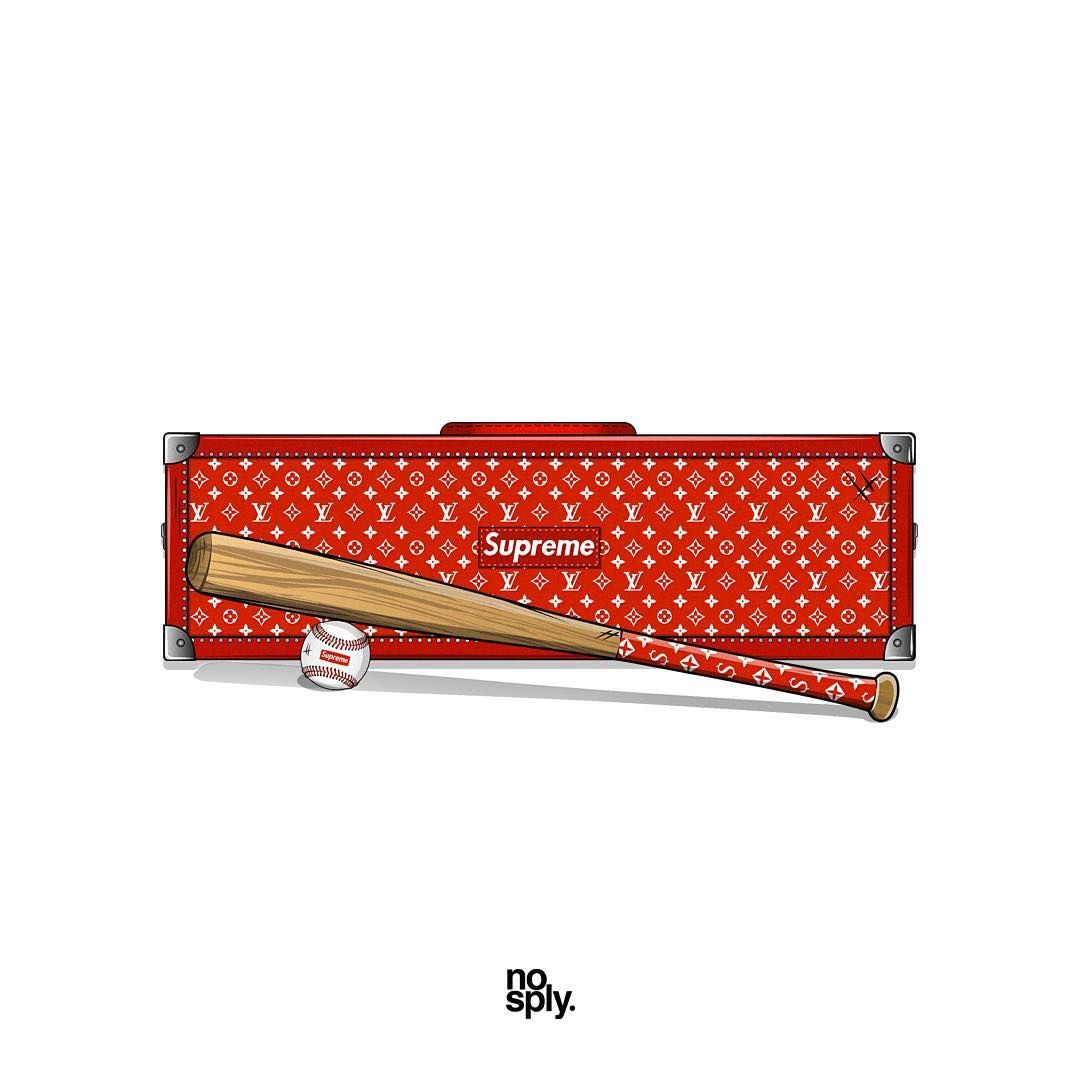 Supreme X Lv Trunk Baseball Bat Fall Winter 2017 And Rawlings Baseball Spring Summer 2012 Nosply Supreme Wallpaper Sneakers Wallpaper Concept Art