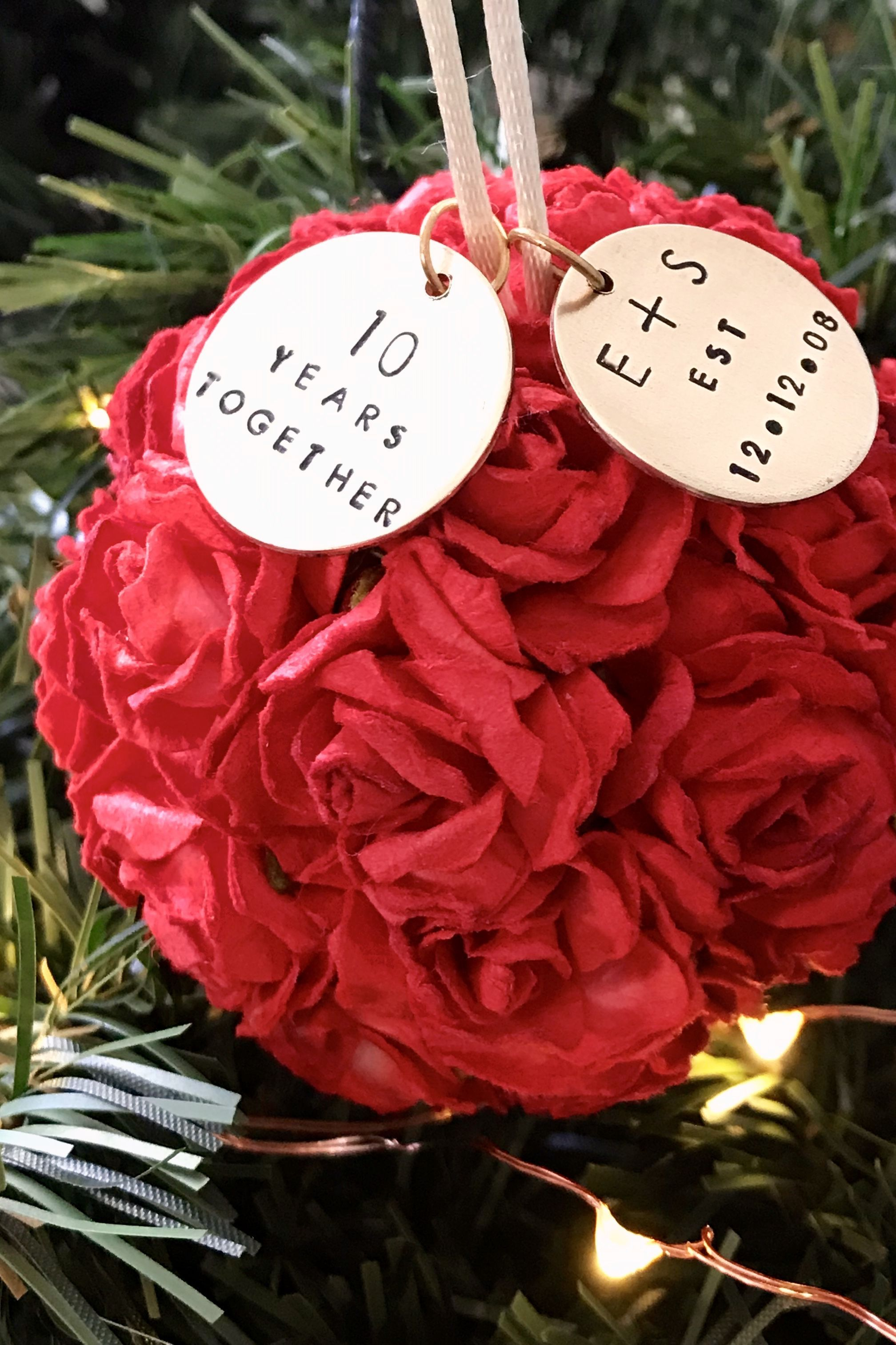 25th anniversary ornament anniversary gift for wife gift