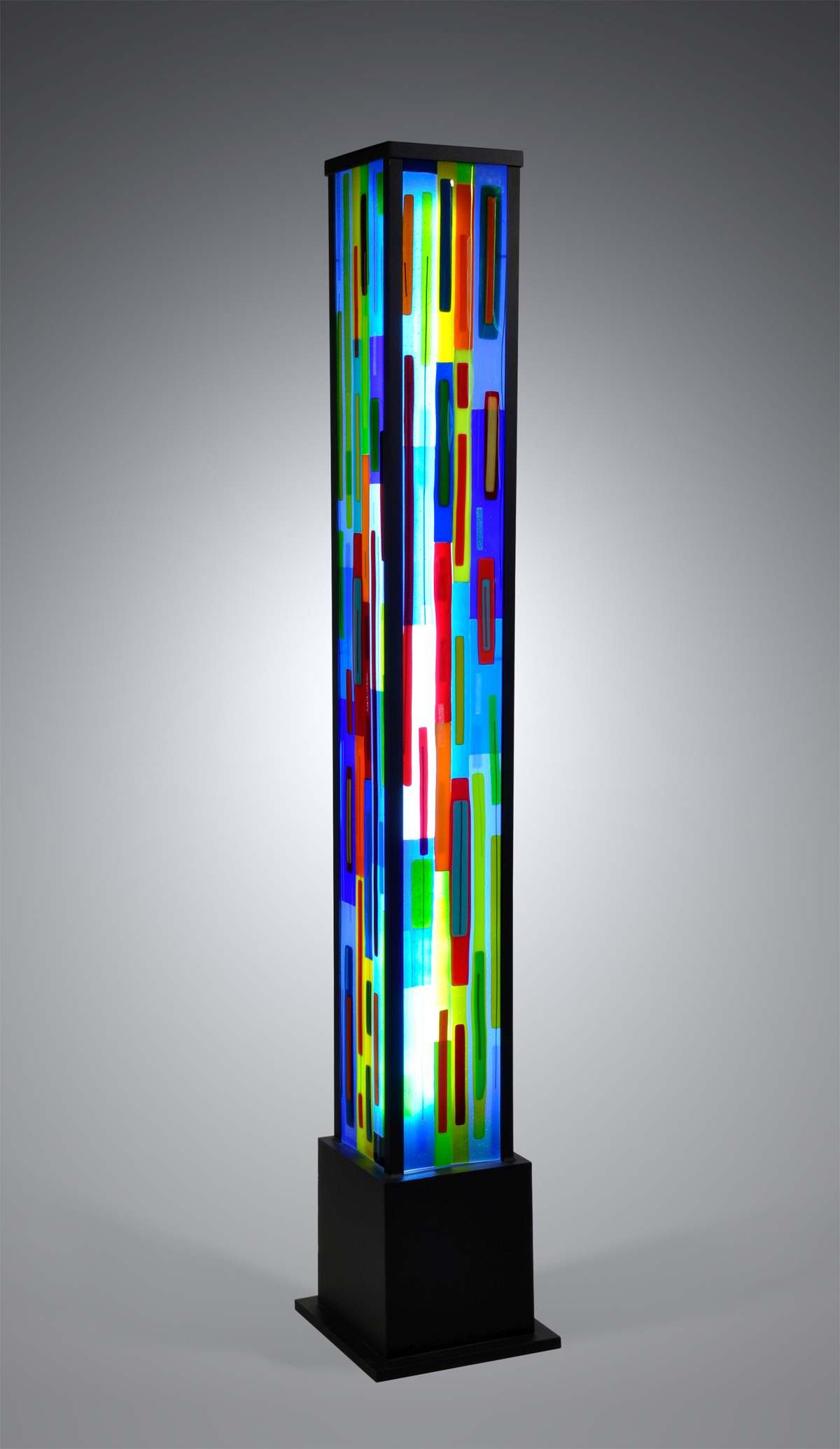 Uplift by Helen Rudy Art Glass Floor Lamp