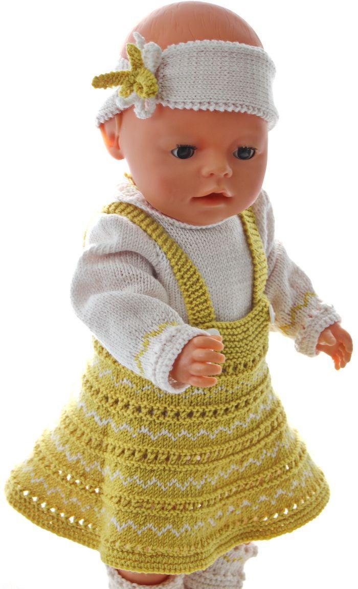 Puppenkleid Stricken Anleitung Handmade Pinterest Doll Clothes