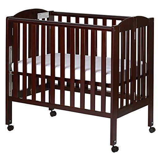 Amazon Com Dream On Me 3 In 1 Portable Folding Stationary Side Crib White Foldable Mini Cribs Baby Portable Crib Cribs Dream On Me