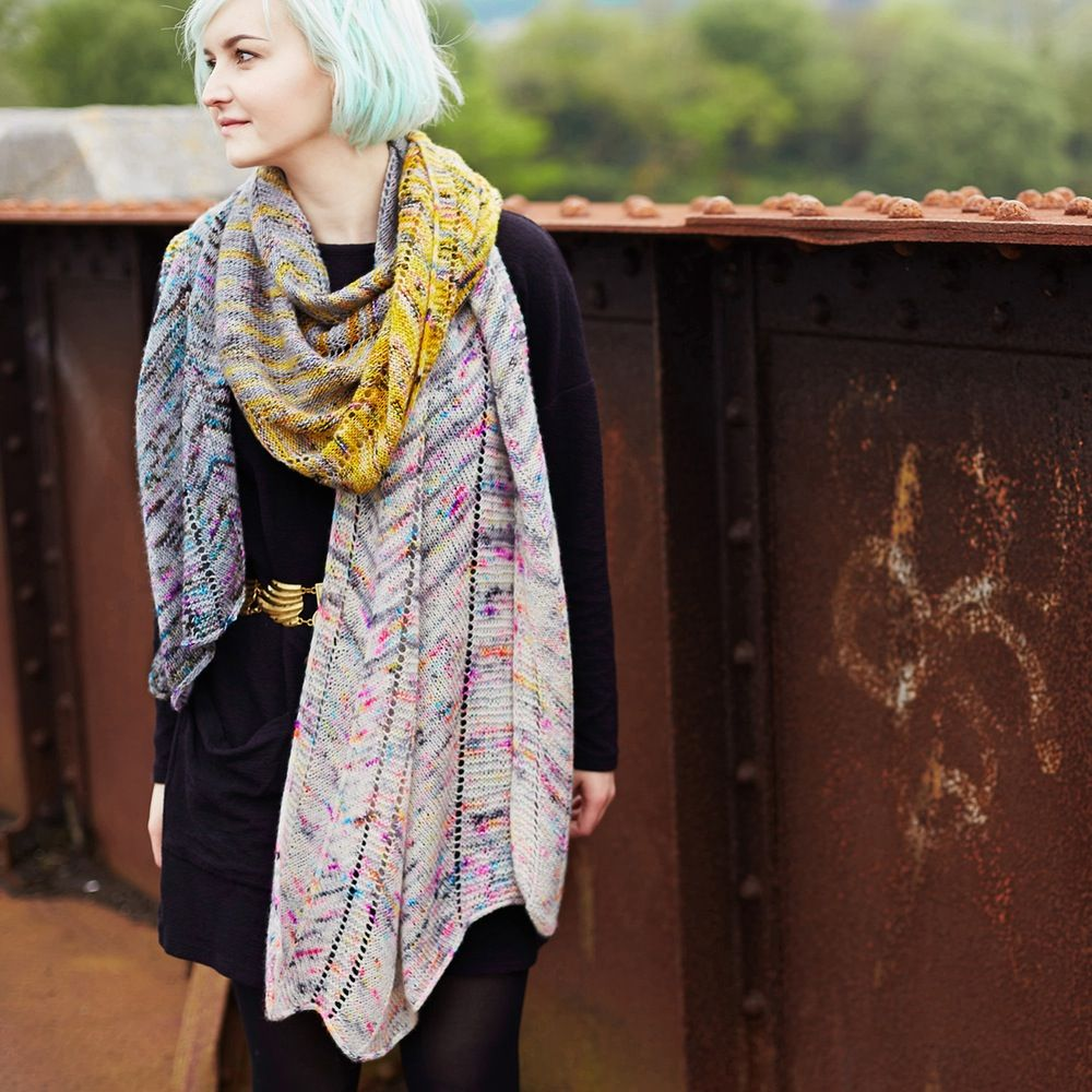 shawl knitting pattern : Shockwaves | DIY : knit / crochet ...
