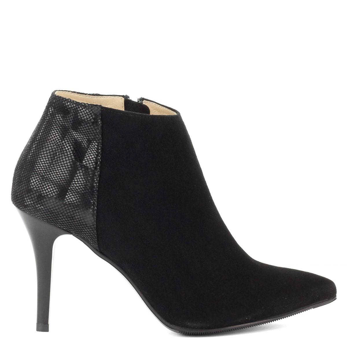 b0fb7bdf04 Anis fekete bőr bokacsizma - Elegáns magassarkú velúr bőr bokacsizma #boots  #divat #cipő