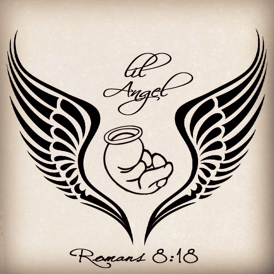 My Tattoo Design For My Angel Baby Miscarriage Tattoo Tatiajes