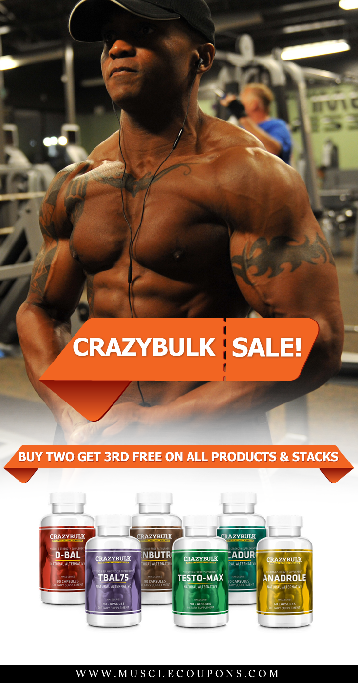 Crazy Bulk Coupon Code Promo Up To 48 Precent Off Rrp Coupons Muscle Building Supplements Bulk