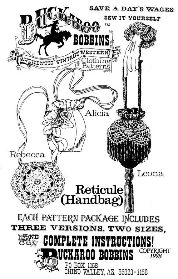 Sac à main de dames réticule victorienne du XIXe siècle dans 3 ...