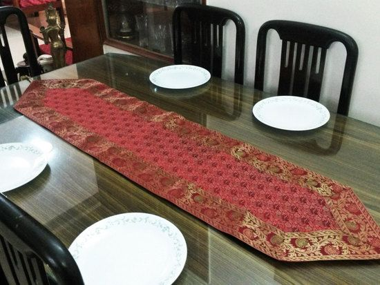 Brocade Home Decor Decoration indian brocade table runner wall hanging banarasi silk brocade