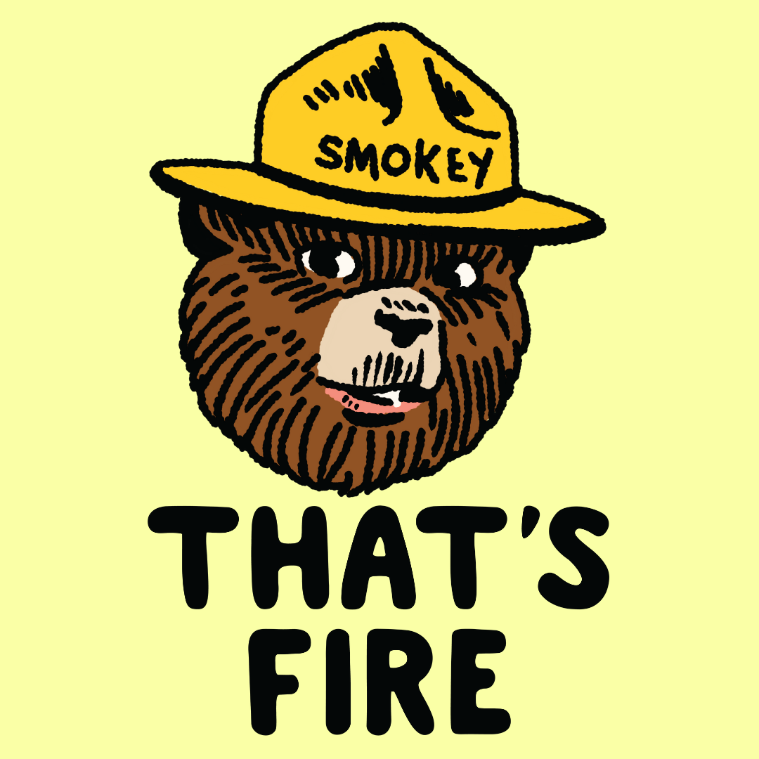 That S Fire Smokey The Bear T Shirts Lookhuman Smokey The Bears Smokey Bear Art