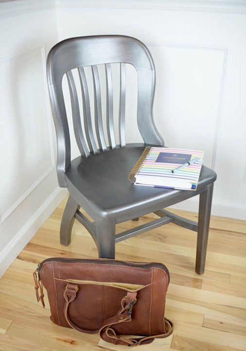 Living Rich On Lessliving Rich On Less: Chair Redo With Modern Masters Metallic Paint