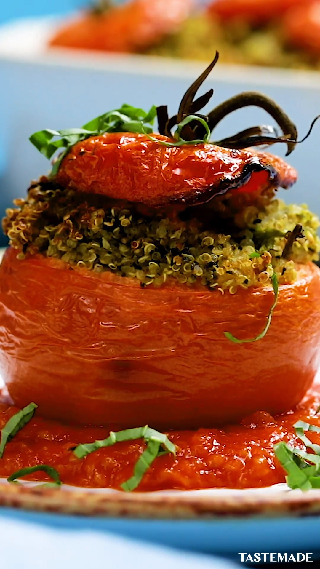 Photo of Pesto Quinoa Stuffed Tomatoes