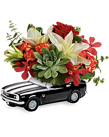 Teleflora's Chevy Camaro Blooming Bouquet in Bel Air MD