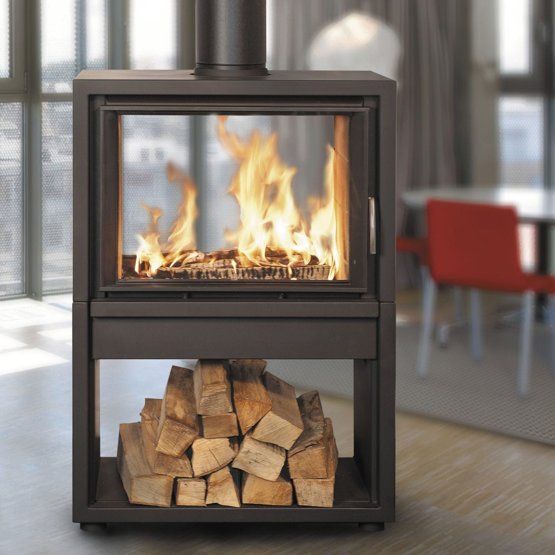 Contemporary fireplace surround metal doublesided konturo plus