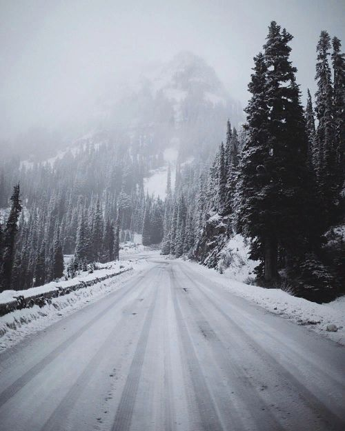 Photo of #mountains #snow #forest #winter #nature #road