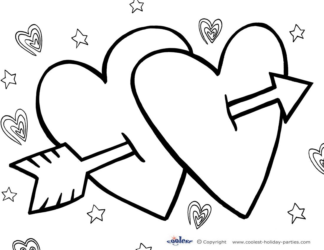 Printable Valentines Coloring Pages Coolest Free