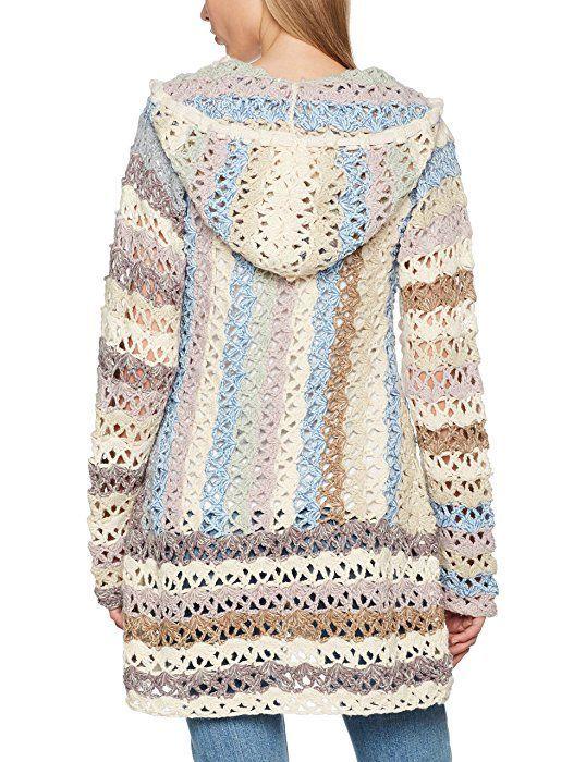 khujo Laddy Chunky Cardingan Knit, Chaqueta para Mujer, Mehrfarbig ...