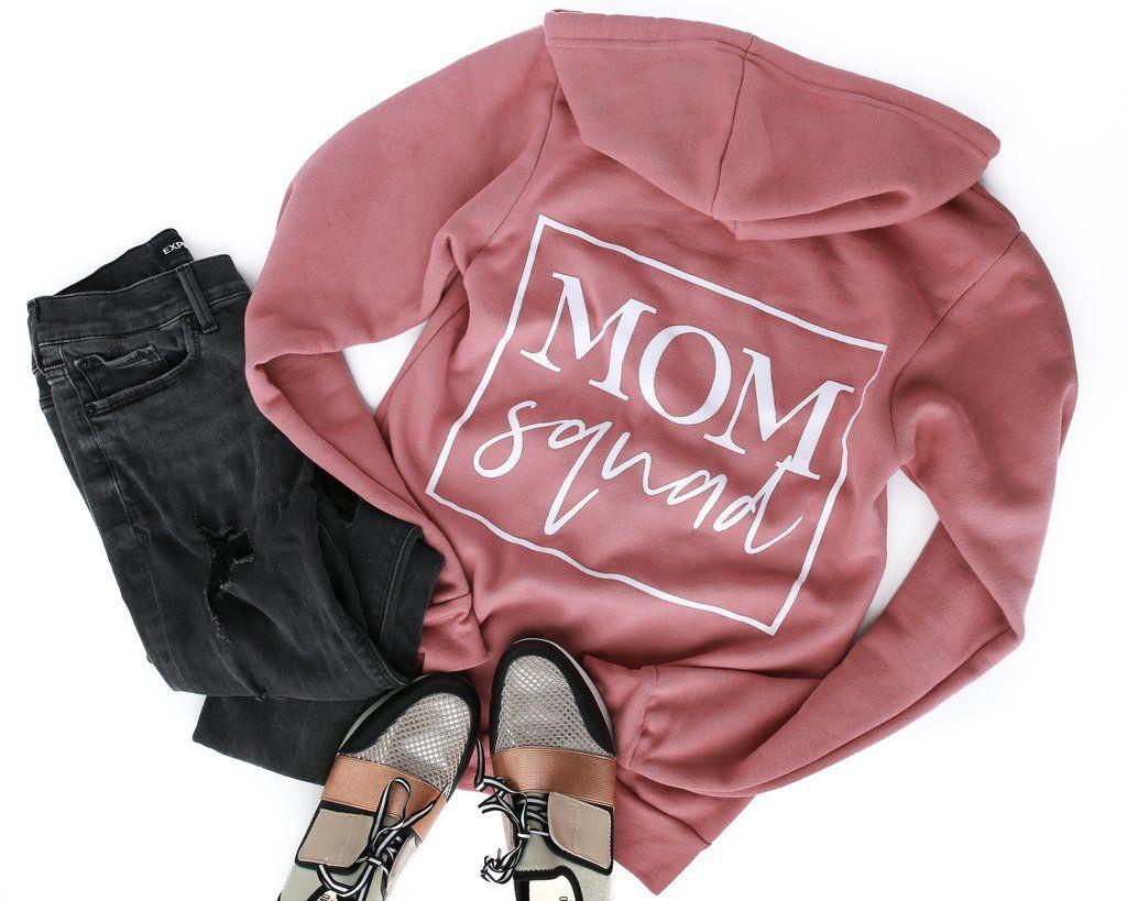 af61b284a Mom Squad Fleece Zip-Up Hoodie *Final in 2019 | Mom Apparel | Mom ...
