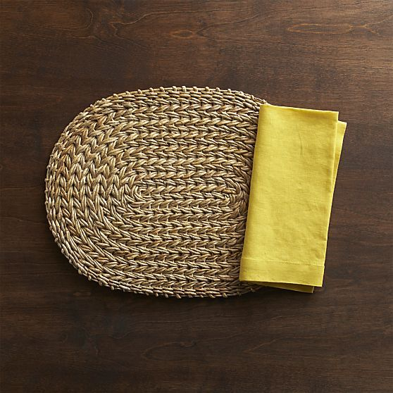 Montego Oval Placemat in Placemats | Crate and Barrel