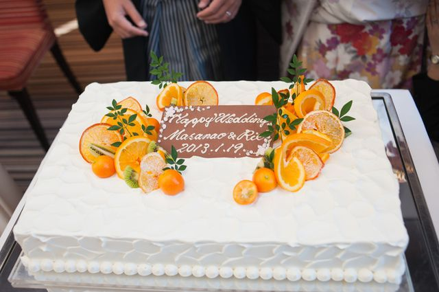 ウエディングケーキにもいろいろなタイプがあります。かわいい