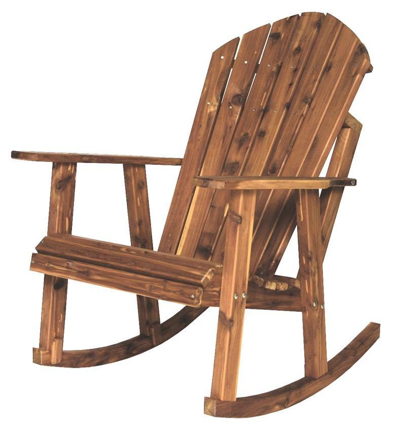 Amish Cedar Wood Adirondack Rocking Chair | Rocking chair ...