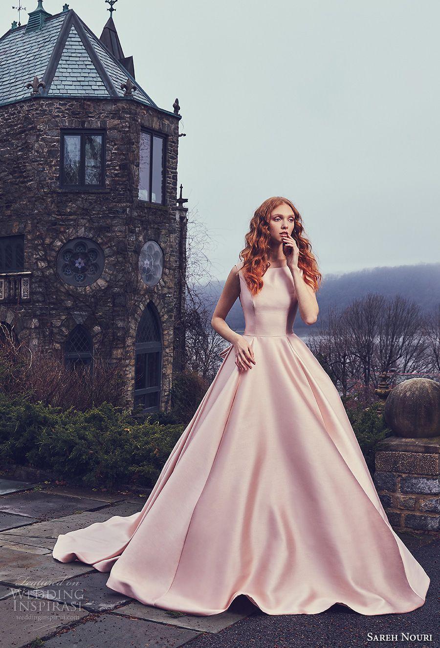 Sareh nouri spring wedding dresses bateau neckline ball